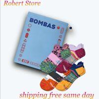 BOMBAS Women's Performance Running Ankle Sock 4-Pack Gift Bag VP $69