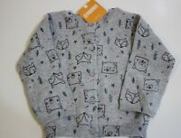 Gymboree Cardigan Sweater Size 12 18 Months Gray Forest Bear Fox