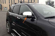 Side Door Mirror Cover Trim Chromed 2PCS For Jeep Grand Cherokee 2014-2017
