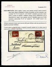 SP551 - 1865 Lettera Londra a Paddington Midhurst Rispedizione certificata Soran