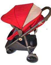 GB Lyfe Pram Travel System with GB Asana35 LTE Infant Car Seat Red w Rain Cover