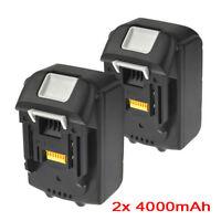 2x 4.0AH 18V Battery For Makita BL1840 BL1830 BL1815 LXT Lithium Ion Cordless