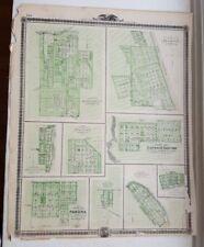 Antique Map - Plan Of Baquoketa/Bellevue/Miles Iowa - Andreas Atlas Co. 1875