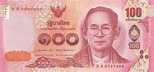Thailand 100 Baht 2015 Unc pn New