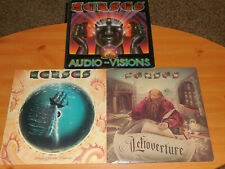 Lot of 3 Kansas LP records Audio-Visions,Point Of Know Return & Leftoverture