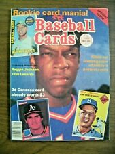 BASEBALL CARDS MAG8/86 REGGIE! LASORDA! ROOKIE CARDS-HOW TO SPECULATE-COLLECTING
