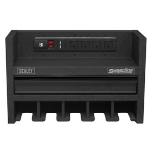 Sealey Tools Power Tool Storage Rack 560mm with Drawer & Power Strip