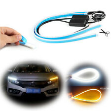 24inch Flexible LED Tube Switchback DRL Turn Signal Lights Strips For Headlight