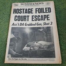 1970 Ny Sunday News-Black Militant Shot-Goose Lake Michigan Rock Concert 250,000