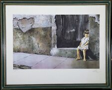"""VIC HERMAN LITHOGRAPH """"PRECIOUS THINGS COME IN SMALL PACKAGES"""" SIGNED & NUMBERED"""