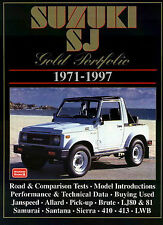 SUZUKI SAMURAI BOOK PORTFOLIO SJ 410 413 BROOKLANDS GOLD 1971-1997