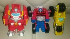 TRANSFORMERS PLAYSKOOL HEROES BOAT MOTORCYCLE TRUCK ACTION FIGURE COLLECTION LOT
