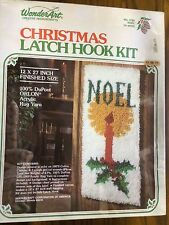 "WonderArt 4792 Christmas ""Noel"" Latch Hook Kit, Needlecraft, Brand New & Sealed"
