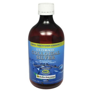 2 x Medicines Fr Nature Ultimate Colloidal Silver 100ppm 500ml