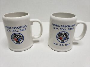 International Race Drivers Club Trophy Mugs Honda Specialties 2nd Place 1986-87