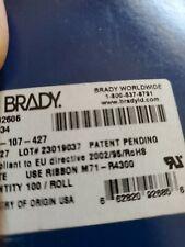 Brady M71 107 427 Cartridge Label White On Translucent Labelsroll 100