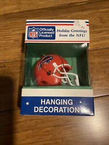 VINTAGE Buffalo Bills NFL Helmet Hanging Christmas Decoration