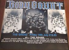 "TOUR POSTER~Body Count Live at Grand Forum 1995 Ice-T 30x40"" UK Quad NOS Rare~"