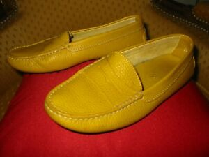 Chaussures TOD'S femme CUIR jaune moutarde Pointure 35