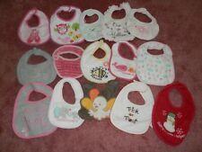 New listing Huge Lot Baby Girl Bibs Feeding Drool