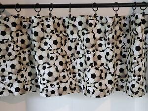 """Valance Soccer Balls Window  Treatment 42""""W x 14""""L Handmade New"""