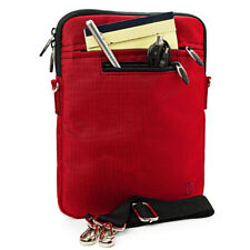 """VanGoddy Red Tablet Sleeve Pouch Case Shoulder Bag For 10"""" Microsoft Surface Go"""