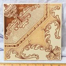 "Vintage Ceramic Floor Backsplash Tile Pattern made in Italy 8"" mv"