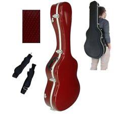 Estuche ABS Rojo Brillo y Aluminio para Guitarra Clásica. Funda Marca Cibeles