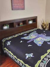 Handmade Cotton Butterfly Print Tapestry Tablecloth Spread Wall Hang 70x106 Inch