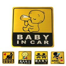 Baby in Car Baby On Board Safety Sign Sticker for Car Window Bumper Large Yellow