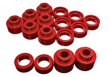 Energy Suspension 3.4122R Energy Suspension Body Mount Set Red Fits:CHEVROLET 1