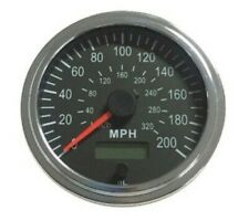 "Speedometer,programmable, 3-3/8""/86mm,200 MPH,LED light, Chrome, 001-SP200-BC"