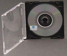 50 MINI SINGOLO CD DVD JEWEL CASE NERO VASSOIO Vuota RICAMBIO COPERTURA PER 8cm Disc