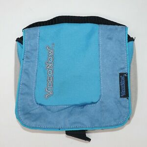 VideoNow XP Player Sky Blue Carry Case with pockets 2005 Hasbro Video Now USED