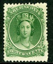 Canada 1860 Nova Scotia 8½¢ Queen Victoria Yellow Paper Mint VF F221
