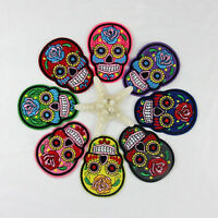 Diy Embroidered Cloth Iron On Patch Sew Motif Applique Skull Ntjc MO FT