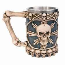 Large Tankard of Skulls 13.5cm High Nemesis Now Gothic Bone Skeleton Halloween