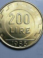 REPUBBLICA ITALIANA - MONETA 200 LIRE  1988 , ERRORE CONIO - CONI COLLISI *N112