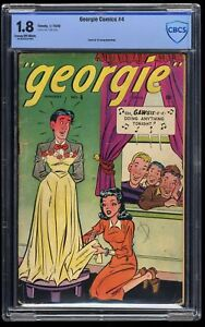 Georgie Comics #4 CBCS GD- 1.8 Cross Dressing Cover!!