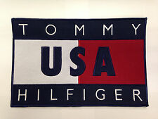 """Tommy Hilfiger Vintage Logo Embroidered Sew On Patch 11""""in x 7""""in"""