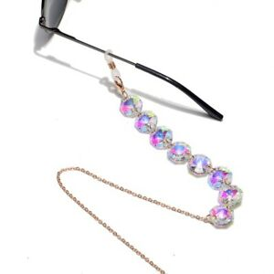 EYEGLASS CHAIN Fashion Octagonal Crystal Multicolor Glasses Chain