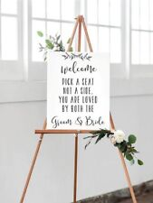 White A2 Pick a Seat Not a Side You are loved by both the Groom & Bride Wedding