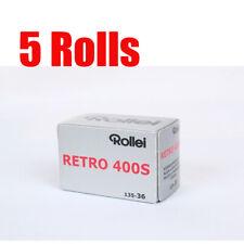 5 Rolls Rollei Retro400s 35mm 135-36exp Black&White Film Fresh 08/2022