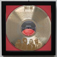 "Motley Crue ""Home Sweet Home"" Framed Laser Etched Lp Record ""M4"""