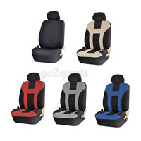 2Pcs Single Seat Car Full Front Seat Cover + Headrest Washable SUV Truck RV