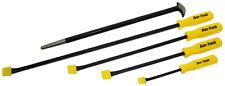 5pc Hi-Vis Pry Bar Set - Premium Trade Quality Heavy Duty - Pri Crowbar Long