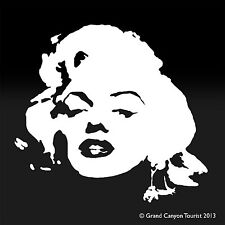 MARILYN MONROE Model Face Vinyl Sticker Decal