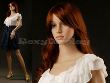 Female Mannequin Plastic Unbreakable Display Head Turns Dress Form G4 + Free Wig