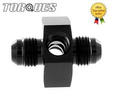 "AN -4 (AN4) Male-Male Union Twin 1/8"" NPT Gauge/ Sensor Side Port Adapter Black"
