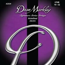 Dean Markley 2504 Nickel Steel Electric Guitar Strings 10-52 LTHB gauges 10-52